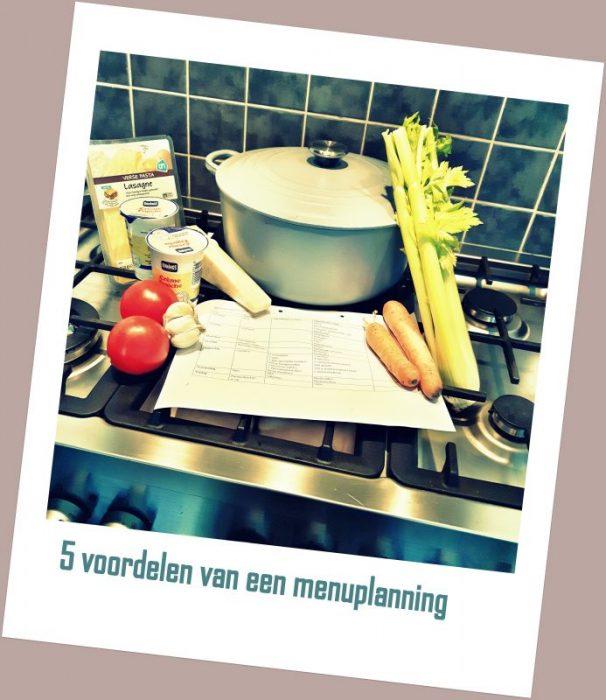 Vijf voordelen van een menuplanning