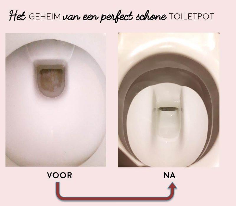Het geheim van een perfect schone toiletpot