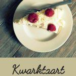 Recept: kwarktaart met witte chocola en frambozen