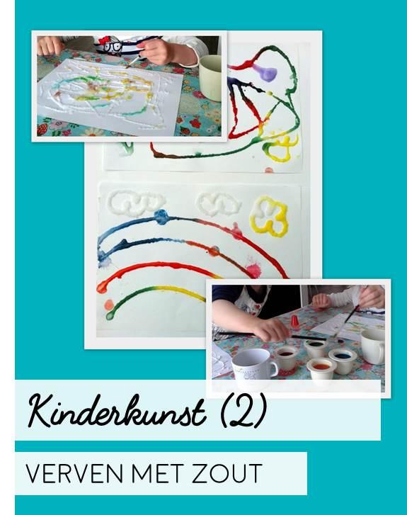 Kinderkunst (2) Verven met zout!