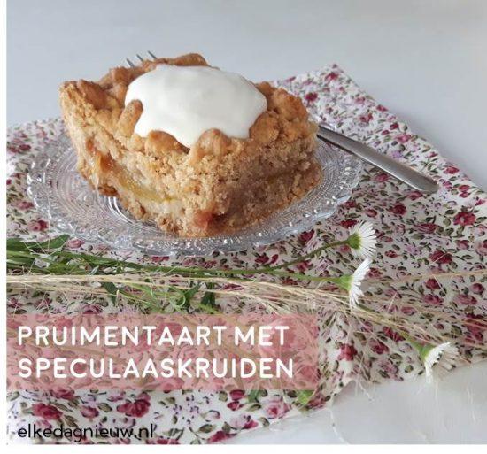 Recept: pruimentaart met speculaaskruiden
