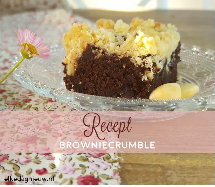 Recept: browniecrumble